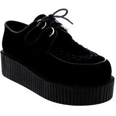 d1d7179fe170 Womens Double Platform Punk Goth Flatform Brothel Creepers Retro Shoes (42  CAD) ❤ liked