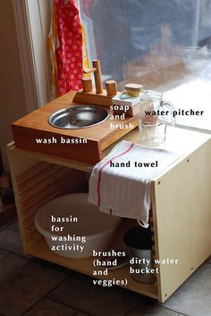 Such a cute idea for kids. I could see this in the backyard so they can wash their hands before entering the house.