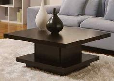 NEW Unique Pagoda Style Modern Coffee Table Home Fashion Décor Family Room Den