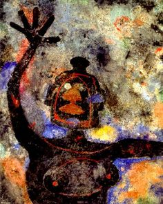 by Rufino Tamayo (1899-1991) was a Mexican painter of Zapotec heritage, born in Oaxaca de Juárez, Mexico.[1][2] Tamayo was active in the mid-20th century in Mexico and New York, painting figurative abstraction with surrealist influences.