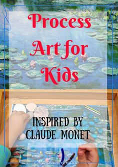 Child's imagination and perception of art at a young preschool age is often a blank canva. It is wonderful to be able to spark inspiration using creations of great artists, like Monet. My little artis
