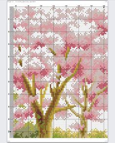 Cross Stitch House, Cross Stitch Boards, Cross Stitch Tree, Cute Cross Stitch, Cross Stitch Samplers, Cross Stitch Flowers, Cross Stitching, Cross Stitch Embroidery, Cross Stitch Pattern Maker