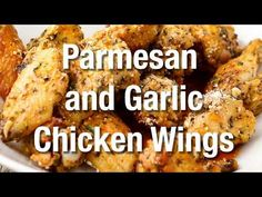This Parmesan and Garlic Chicken Wings recipe is a real winner. The flavors are through-the-roof delicious. Baked not fried makes them even better. Yum. Chinese Fried Chicken, Cooking Recipes, Healthy Recipes, Healthy Foods, Diet Recipes, Parmesan Chicken Wings, Potluck Dishes, Quick Dinner Recipes, Baked Chicken Recipes