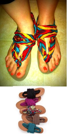 DIY cute flip flops.  maybe they'll be more comfortable for the kids.