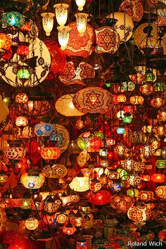Istanbul - Grand Bazar lamps at kapali carsi (the grand bazaar) The Places Youll Go, Places To Go, Grand Bazaar Istanbul, Turkish Lamps, Turkish Lanterns, Turkish Lights, Moroccan Lamp, Istanbul Turkey, Belle Photo
