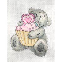 Cupcake - Tatty Teddy - Me to You - counted cross stitch kit Coats Crafts Cupcake Cross Stitch, Xmas Cross Stitch, Cross Stitch Needles, Cross Stitch Baby, Cross Stitch Animals, Cross Stitch Kits, Cross Stitch Charts, Cross Stitch Designs, Cross Stitching