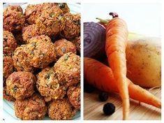 Aceste chifteluțe vegetariene sunt foarte gustoase, și mai ales, sănătoase. Rețeta nu presupune fierberea legumelor, care poate duce la pierderea vitaminelor. Raw Vegan, Vegan Vegetarian, Vegan Recipes, Cooking Recipes, Romanian Food, Spinach Stuffed Chicken, Good Food, Food And Drink, Healthy Eating