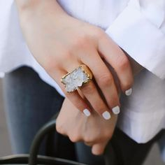 Jewelry and Decor from Brazil в Instagram: «Кольцо с кристаллами горного хрусталя (Бразилия) ▫️Стоимость: 4500₽ ____________________________________________________________ ▪️…» Engagement Rings, Jewelry, Fashion, Jewellery Making, Moda, Wedding Rings, Commitment Rings, Jewerly, Fasion