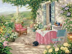 House Painting, Painting & Drawing, Watercolor Paintings, Pintura Exterior, Cottage Art, Beautiful Paintings, Belle Photo, Landscape Art, Cute Art