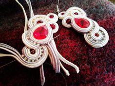 #soutache #handmade #earrings #weddingearrings #soutacheearrings #jewellery #swarovski #soutachejewellery
