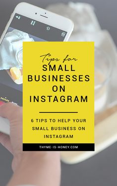 6 tips to help your small business drastically improve it's Instagram presence.