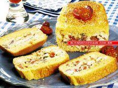 Receita de Torta de Polenta com Frango