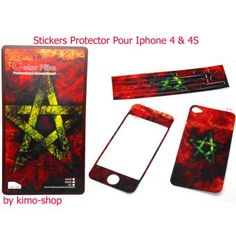 Stickers protection pour Iphone 4 & S4 Maroc