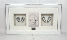 Here's a beautiful framed silver hands and feet casting we did of a beautiful 5 week old. https://babycastsandprints.co.uk/