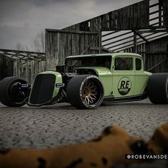 A little Hot Rod I cooked up! What you think? #32ford #hotrod #robevansdesign