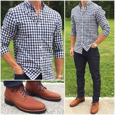 Relaxing Saturday ✊🏼🙌🏼 Untuck your shirt, put on some comfortable jeans, and throw on your favorite boots‼️🔥🔥🔥 Do you like this outfit❓ Boots: Denim: Mode Outfits, Casual Outfits, Fall Outfits, Casual Boots, Fashionable Outfits, Casual Dresses, Stylish Men, Men Casual, Casual Styles