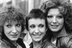 Charlotte Cornwell, Julie Covington and Rula Lenska as The Little Ladies in Rock Follies and Rock Follies of 1977
