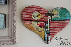 metal patchwork heart wall pieces. one of my fave new releases