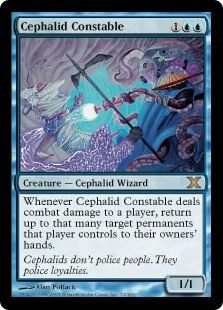 Cephalid Constable (Tenth Edition) - Gatherer - Magic: The Gathering Arkham Games, Magic The Gathering Cards, Magic Cards, Wizards Of The Coast, Rarity, Mtg, Loyalty, Police, Creatures