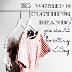 If you're ever wondering what to sell on eBay, this list is a great place to start!  The definitive list of women's clothing to sell on eBay!  I'm betting you've never heard of most of these even though they sell for hundreds of dollars....  eBay BOLO List of the Top Women's Clothing Brands to resell!  http://www.resellingrevealed.com/25-womens-clothing-brands-to-sell-on-ebay4.html Shopping, Dresses, Vestidos, Gowns, The Dress, Cloths, Dressy Outfits, Skirts