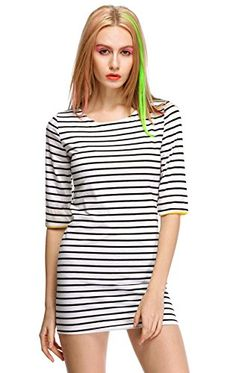 MEXI Womens Ladies Striped Scoop Neck Casual Boho Prom Party Evening Mini Dress Mexi http://www.amazon.com/dp/B00T39DKNI/ref=cm_sw_r_pi_dp_BG-0vb1B990DC