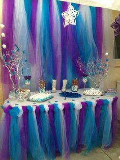 Tulle decorating for a party