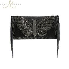 Flutter Handbag Beaded, Embellished Designer Handbag by Mary Frances♥🌸♥