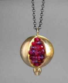 Pomegranates flat  golden earrings earrings pomegranate jewelry  ruby earrings  jewish gift hand created designer sultana Turkish granate