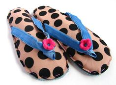 Fabric Flip Flop Sandals Home Slippers Powder Pink & by askidas, $48.00