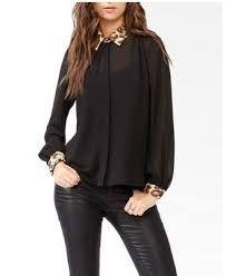 Resultado de imagen para blusas de vestir elegantes manga larga