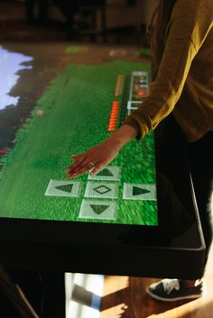 """Playing Minecraft on a Colossus gives gameplay a big boost! The Ultra HD resolution offers unmatched clarity, and the 84"""" display makes for a very immersive gaming experience.   Prequel video for Minecraft on one of our coffee tables can be found  here. Visit our website to find more about our multitouch tables and touch walls."""