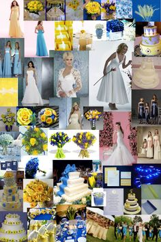 Glamourous Gowns: Blue and Yellow are great colours for a spring wedding