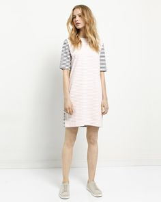 Throw-on-and-go: it doesn't get more effortless than the t-shirt Stripe Dress.