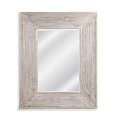 White Framed Wall Mirror belle maison ''x'' distressed wall mirror | bedroom ideas