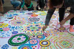 Big Draw 2015, georganiseerd met Kunstjuf Iris Verbakel en Marijke Liefting, eindhoven 3 okt '15