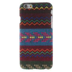 Javu - iPhone 6 Hoesje - Back Case Hard Canvas Tribal Chevron Groen   Shop4Hoesjes