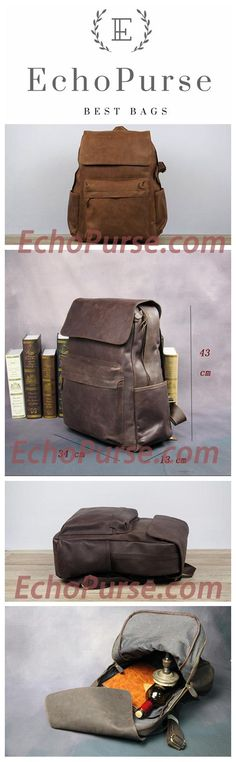 Handmade Crazy Horse Leather Backapck, Packsack, Shoulder Bag NZ11