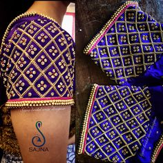 Sophisticated latest design of saree blouse Read details on Hand Work Blouse Design, Simple Blouse Designs, Stylish Blouse Design, Aari Work Blouse, Wedding Saree Blouse Designs, Silk Saree Blouse Designs, Embroidery Neck Designs, Aari Embroidery, Embroidery Works