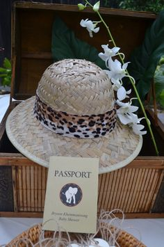 A sweet safari shower in honor of my sister-in-law to celebrate of the upcoming birth of my precious nephew, Baby Bryson Liam! Jungle Theme Parties, Safari Theme Party, Jungle Party, Safari Hat, Safari Party Decorations, Baby Shower Decorations, Wedding Decorations, Gala Themes, Party Themes