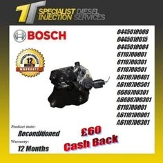 Mercedes Sprinter 2.1/2.2 Reconditioned Bosch Fuel Pump - 0445010008 0445010015