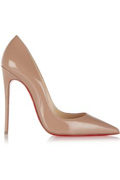 CHRISTIAN LOUBOUTIN So Kate 120 Patent-Leather Pumps. #christianlouboutin #shoes #pumps