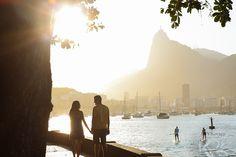 Ensaio pré Casamento Rio de Janeiro RJ Praia da Urca pôr-do-sol