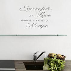 kitchen wall art quote by mirrorin | notonthehighstreet.com