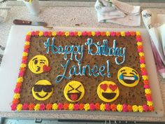 American Cookie, Cookie Cakes, Happy B Day, Cookie Designs, Decorated Cookies, Cookie Decorating, Desserts, Food, Happy Brithday