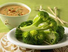 Broccoli Dipped in Wonderful Peanut Sauce   Vegetarian Times.