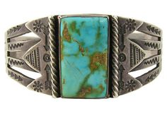 Fred Harvey Era Navajo Bracelet w/ Turquoise by Ruby + George on @Jonathan London Kings Lane