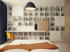 New home office bookshelves built ins desks ideas Simple Bookshelf, Office Bookshelves, Bookshelves In Bedroom, Bookshelf Desk, Bedroom Desk, Wall Shelves, Book Shelves, Bookcases, Shelving
