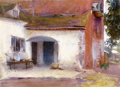 The Athenaeum - House and Courtyard (John Singer Sargent - ) 1903