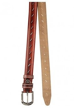 MAROON BELT WITH STITCH DELAILING