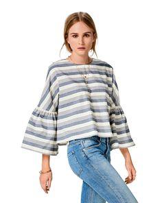 burda style, Schnittmuster, Bluse H/W 2017 #6477A, Lässiger Look für modebewusste Girls. Die weite Blusen hat angeschnittenen Ärmeln mit Ärmelrüschen. Die Bluse ist herrlich unkompliziert und vielseitig zu kombinieren.
